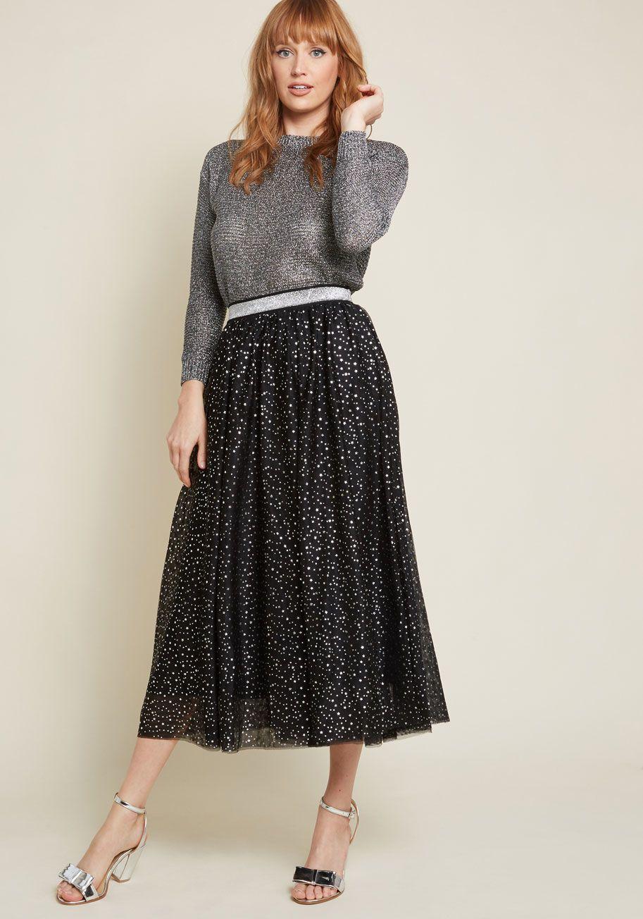4ab198fd793 Starry Soiree Midi Skirt