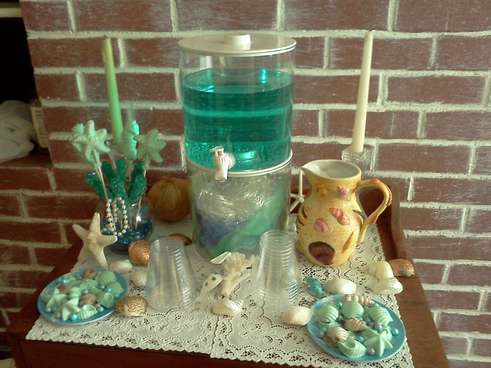 mermaid under the sea baby shower sandys shindigs pinterest