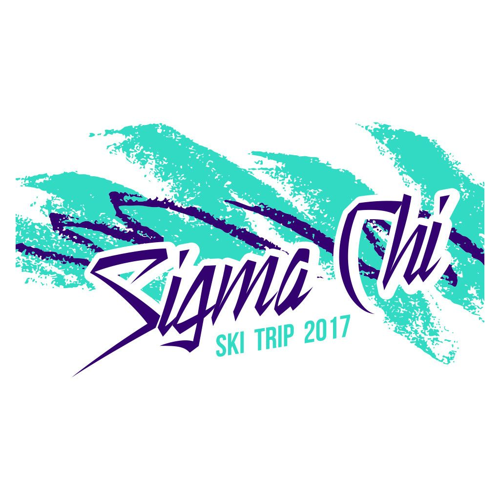 303444620cf Sigma Chi Retro Ski Design by College Hill Custom Threads sorority and fraternity  greek apparel and products! Customize this design for your chapter today