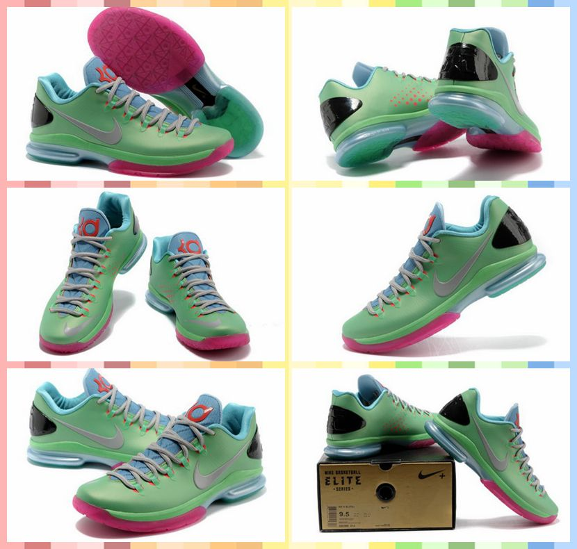 Nike Zoom Kevin Durant's KD V Elite Low #Basketball #Shoes Green Grey