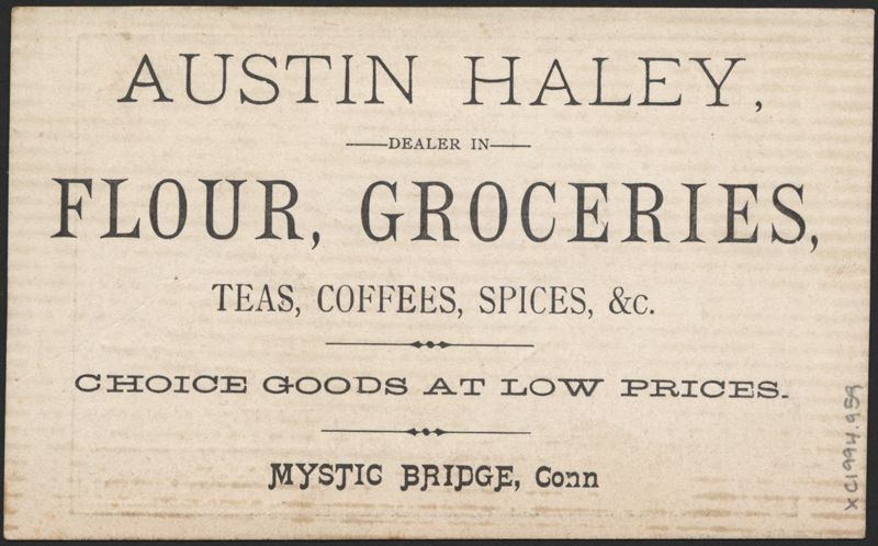 Grocer trade card ラベル