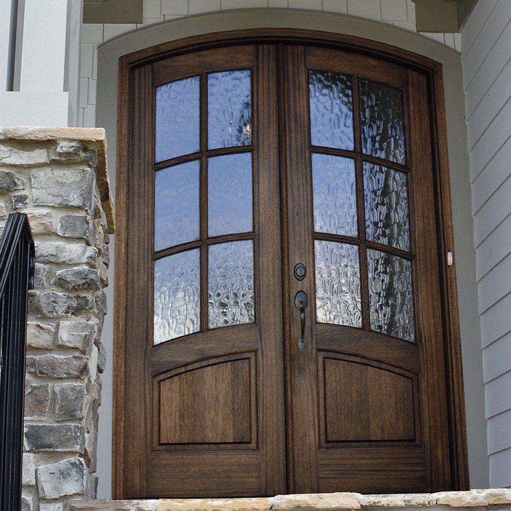 Florencia 6 Lite Arch Top Double Entry Door Double Entry Doors Entry Doors Arched Front Door