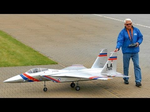 F-15 Super Scale Giant RC Turbine Model Jet / Friedhelm Graulich / Bölsdorf 2015 *1080p50fpsHD* - YouTube