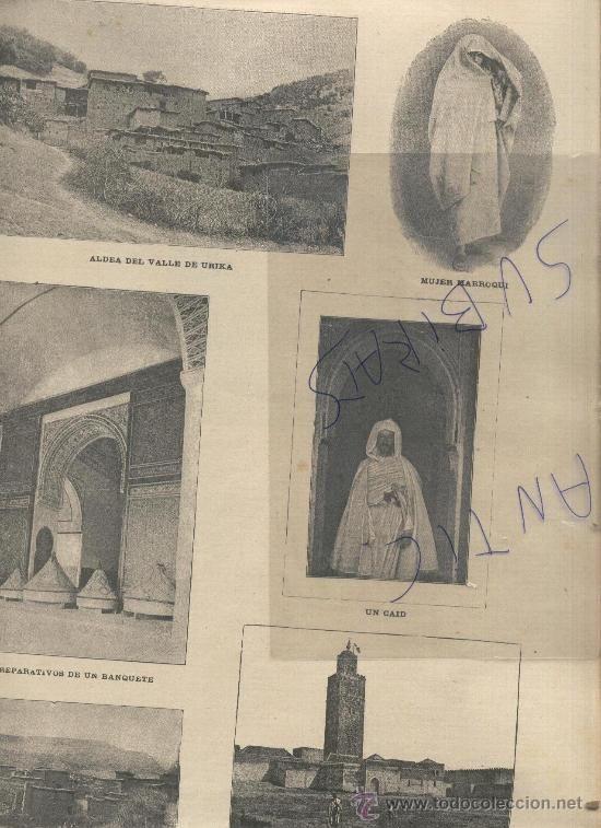 REVISTA.AÑO 1893.LA GUERRA DEL RIF.AFRICA.MELILLA.FUSIL MAUSER.FUERTE ROSTRO GORDO.URIKA.KUTUBIA. - Foto 2