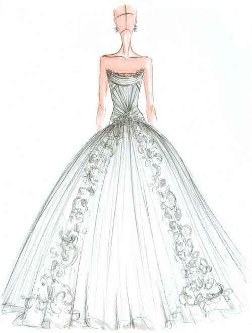 exclusive spring 2015 wedding dress sketches | fsn illustration