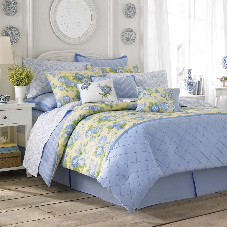 Laura Ashley Salisbury Blue & Yellow Floral forter Set