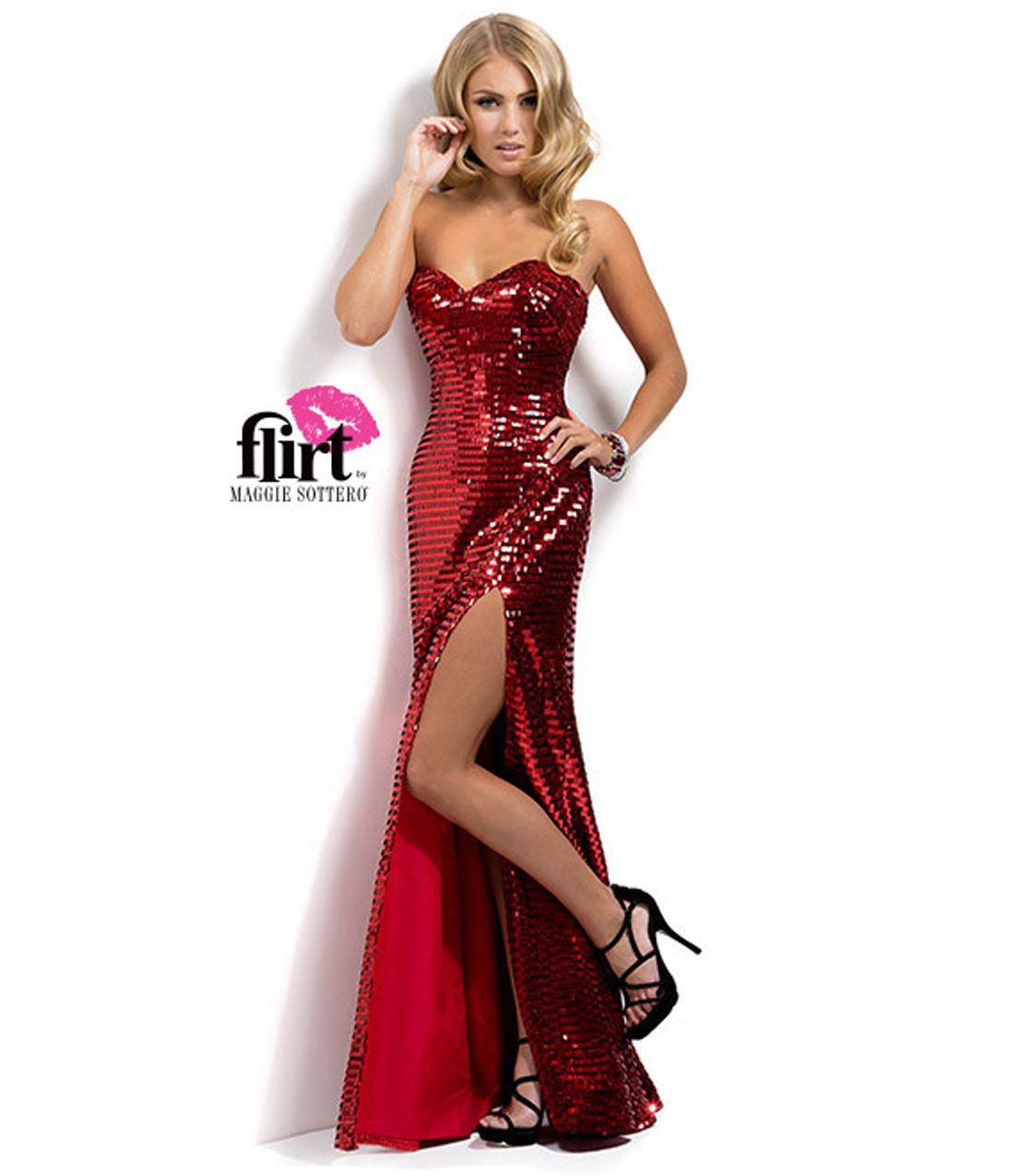 Collection Red Sequins Dress Pictures - Reikian