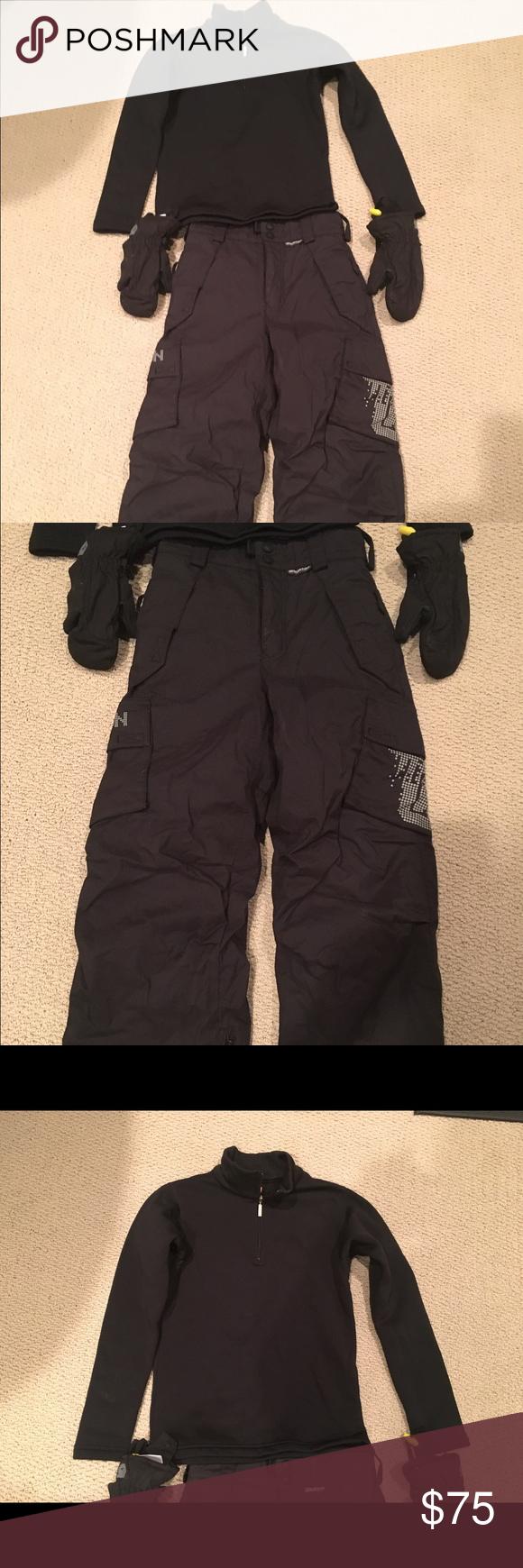 Boys Burton Snowboarding Pants Marker Jacket Boys Burton Black Snowboarding Ski Pants Size X Small 6 And Marker Sweater Boys Jacket Ski Pants Kids Mittens