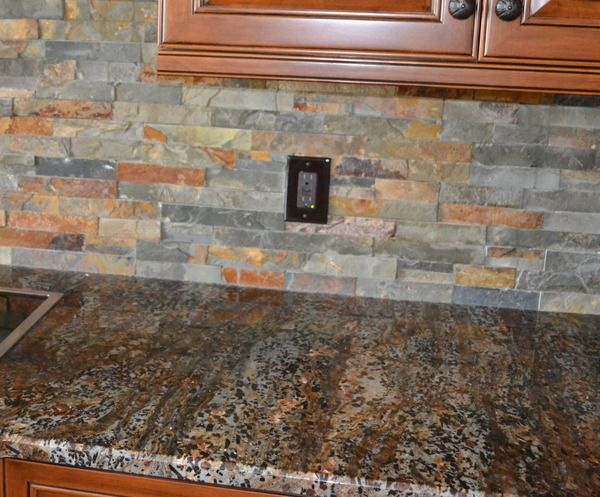 Slate Kitchen Backsplash