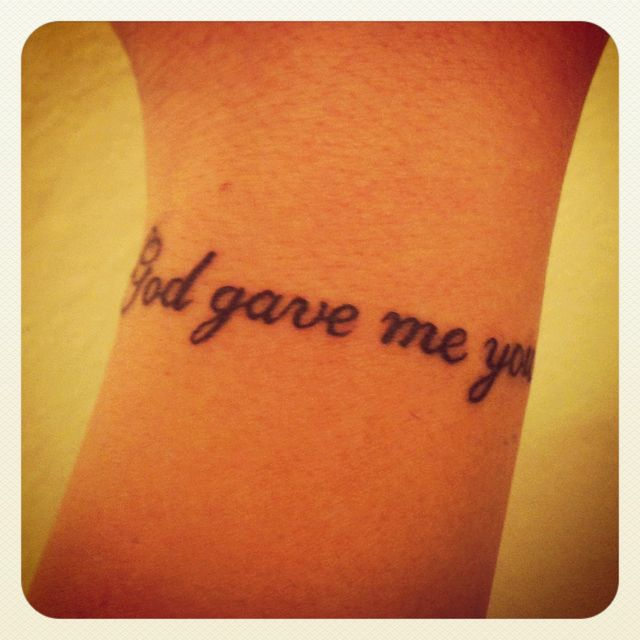 God Gave Me You Possibly In The Future I Will Get This