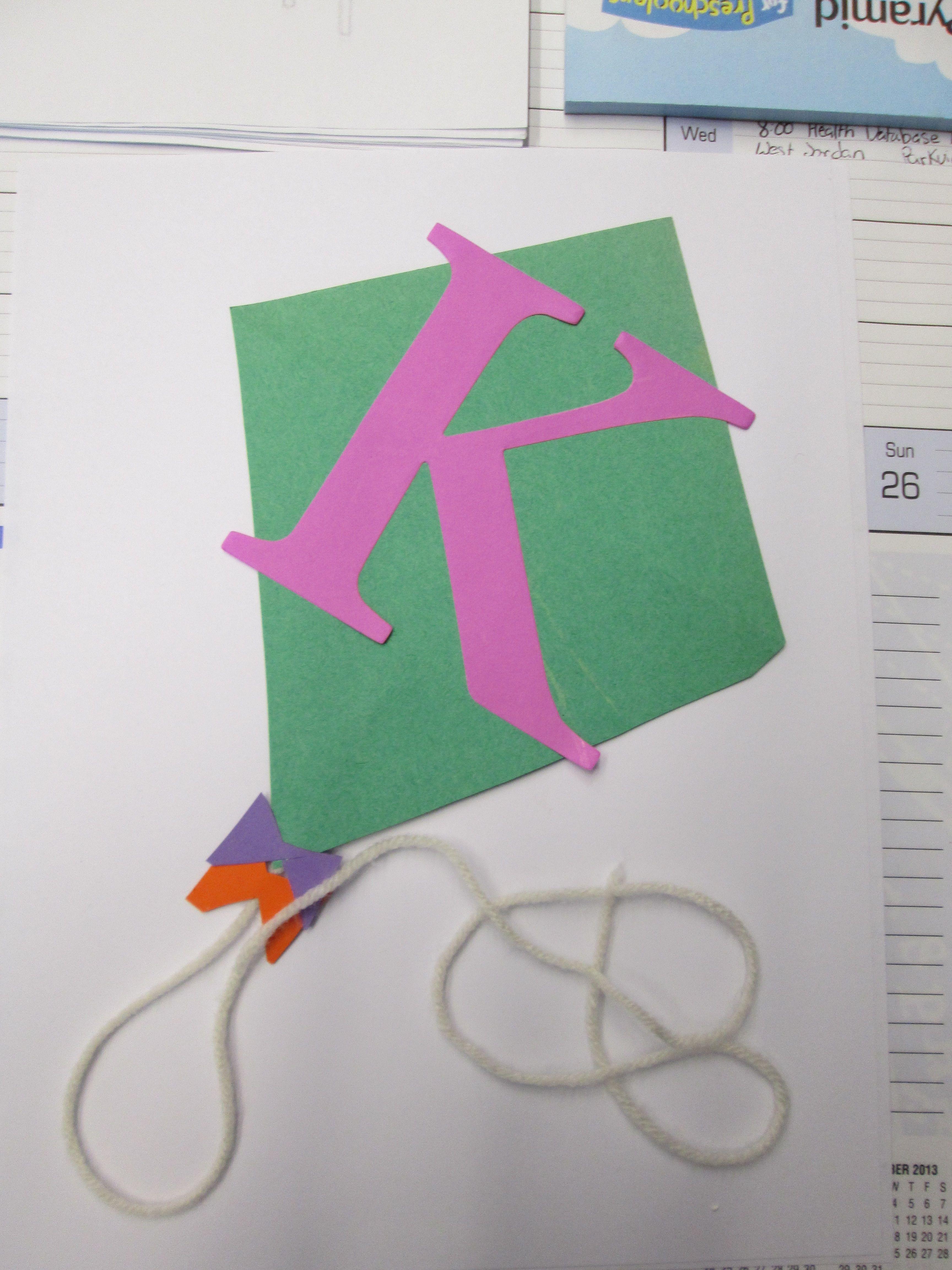 Letter K Craft   Kite