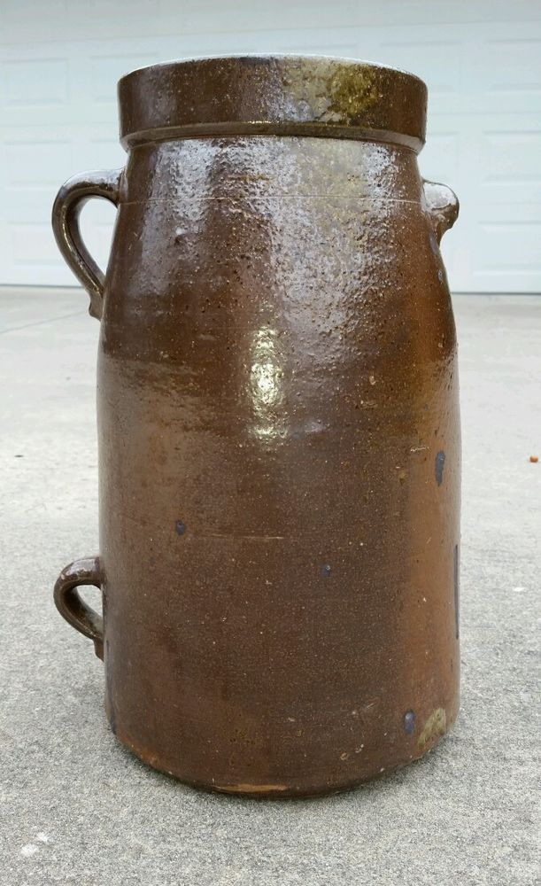 15 5in Tall Southern Pottery Two Handled 3 Gallon Jar