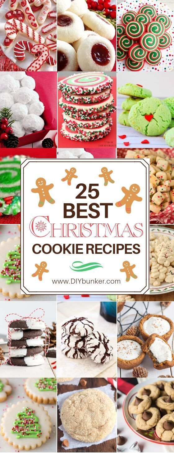Christmas Cookie Recipes That're Beyond Easy to Make   - Dessert (Pies, bars, cookies, trifles, cak
