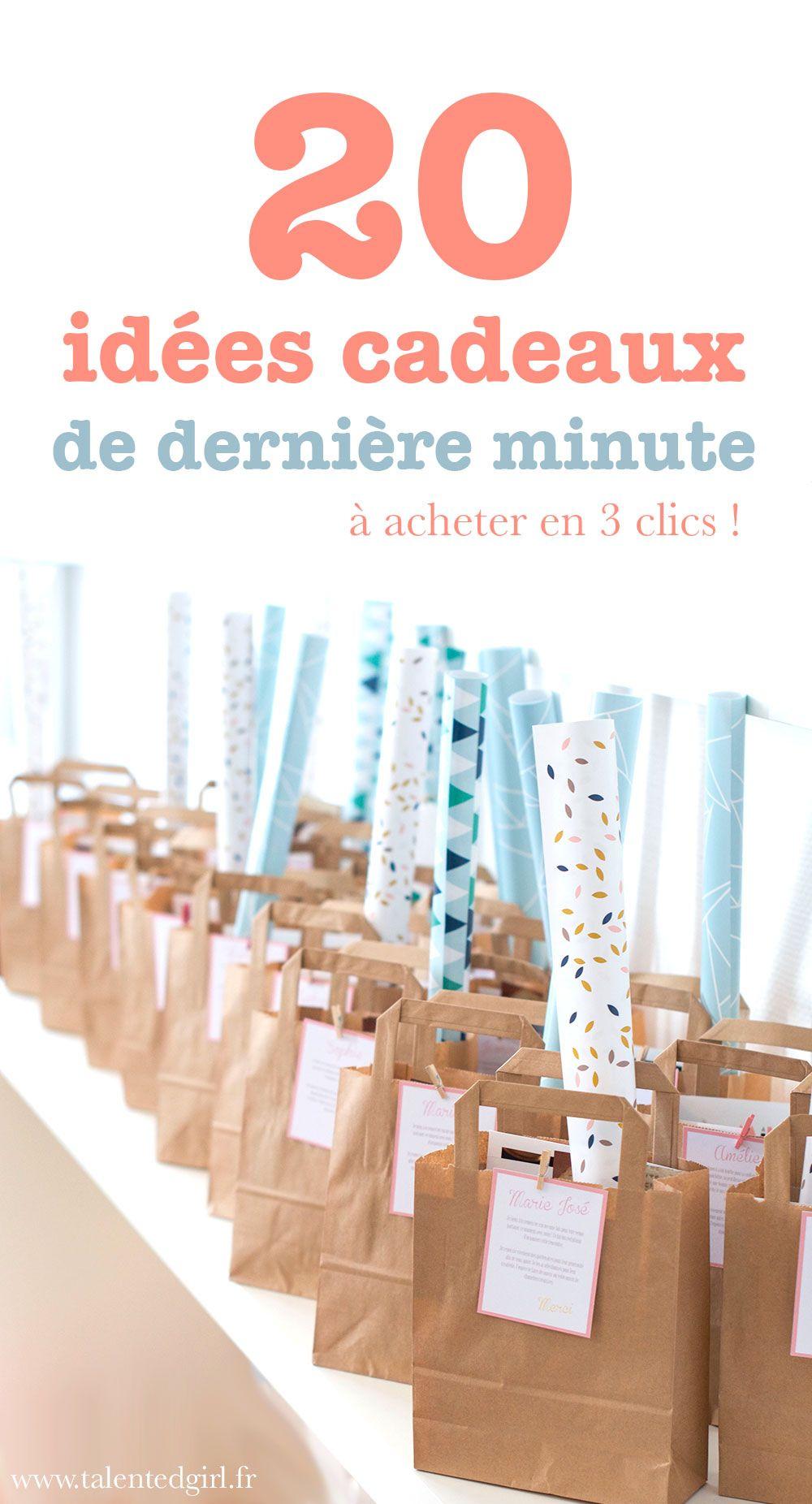 20 Idées De Cadeaux De Dernière Minute Cadeau Dernière