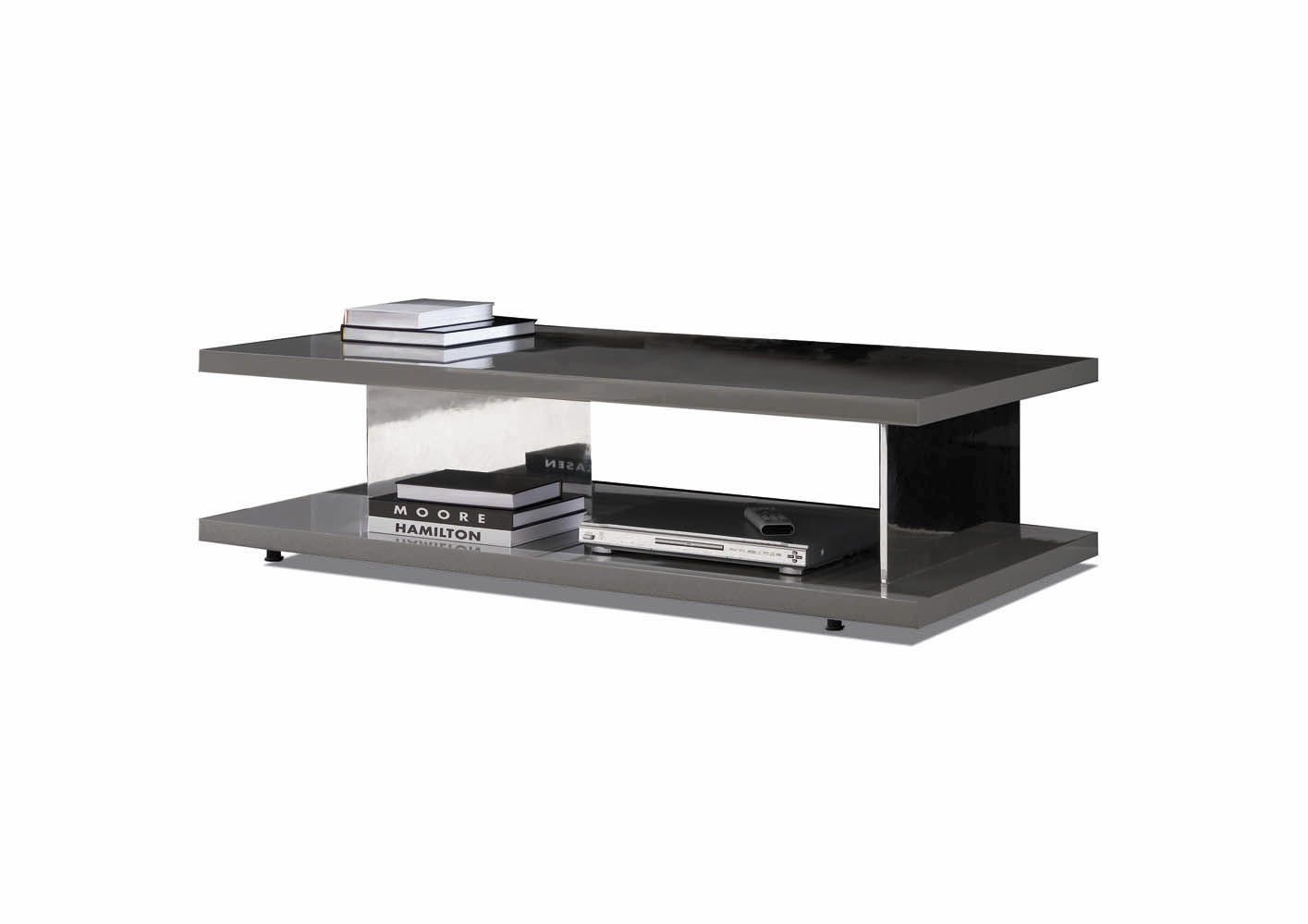 Contemporary Aluminum Coffee Table Starr By Massimo Castagna