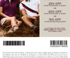 photograph relating to Tommy Hilfiger Coupon Printable known as Printable Discount coupons: Tommy Hilfiger Discount codes Printable