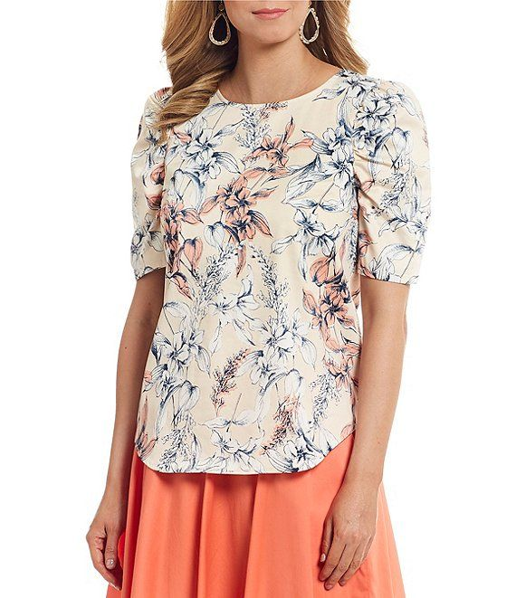 8e9a236c2e564b Alex Marie Bliss Floral Print Puff Sleeve Blouse in 2019 | Skirts ...