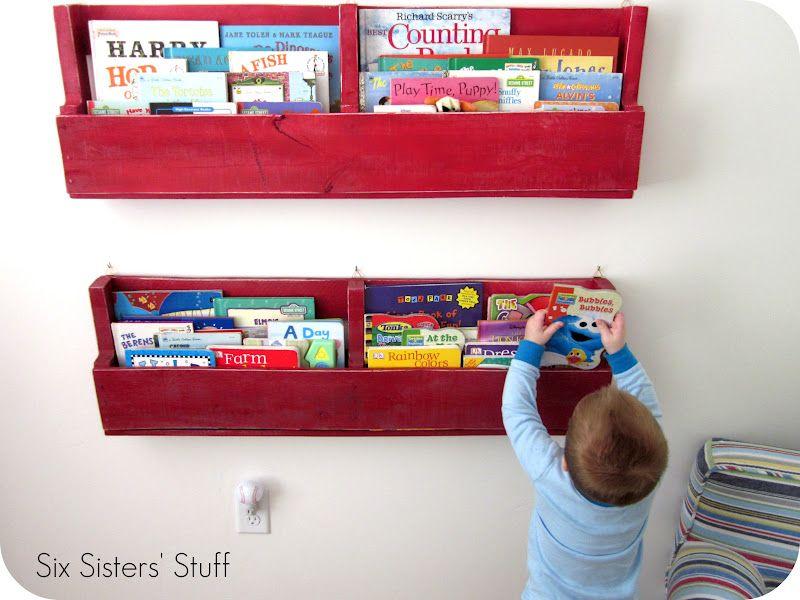 Easy Pallet Bookshelves Tutorial