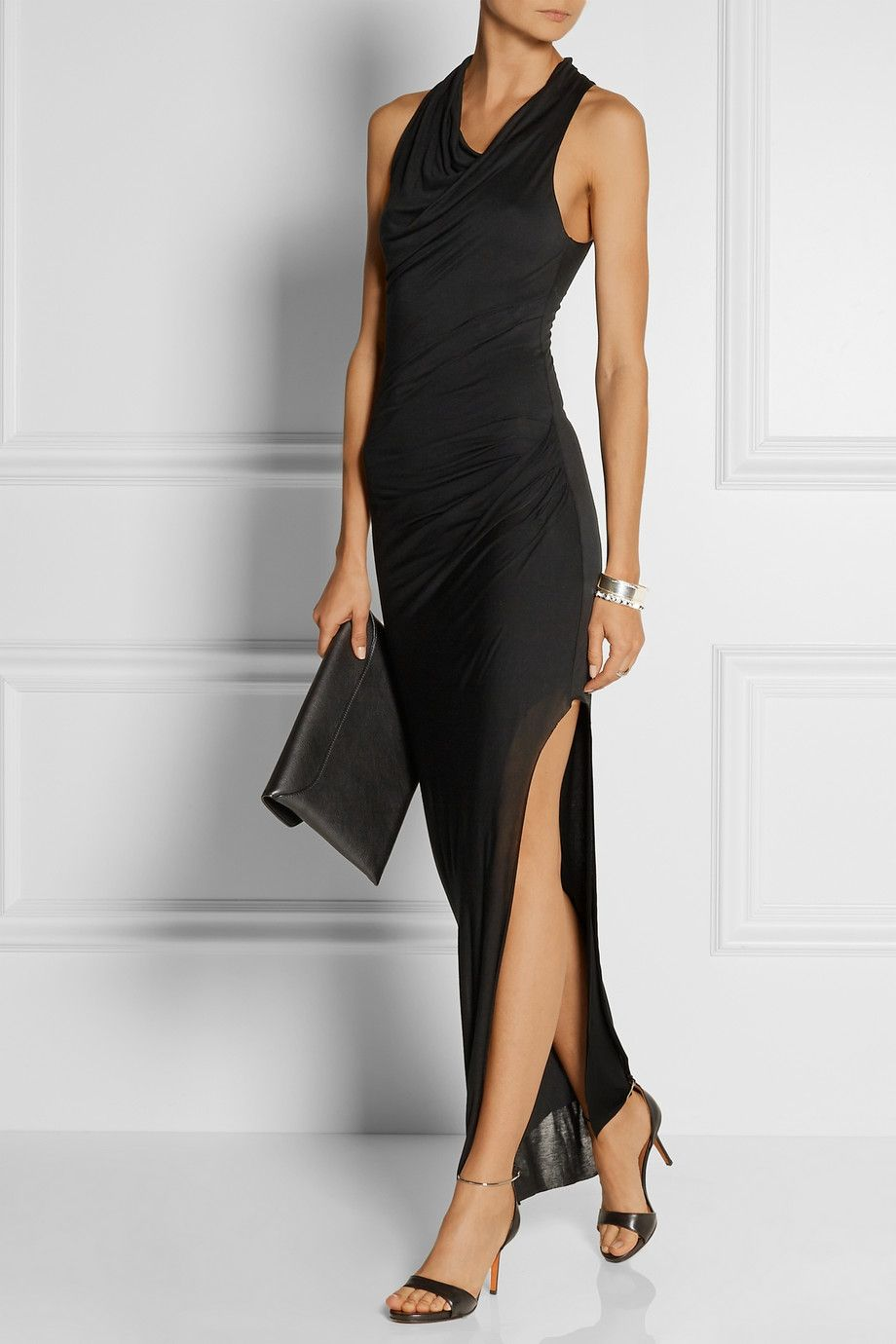 7b6146ea265f Helmut Lang - Draped Micro Modal maxi dress | Night Glam | Dresses ...