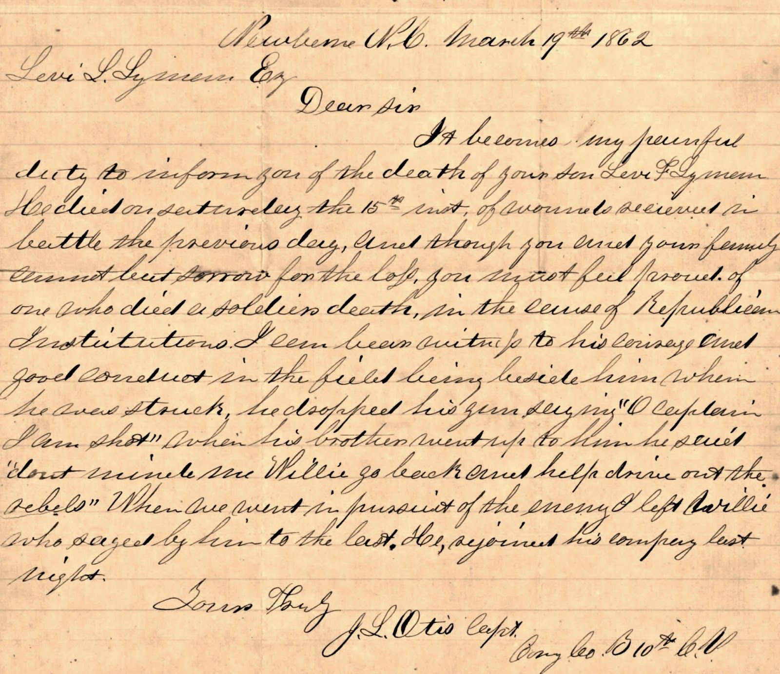 Civil war letter informing a father of the death of his son civil civil war letter informing a father of the death of his son spiritdancerdesigns Images