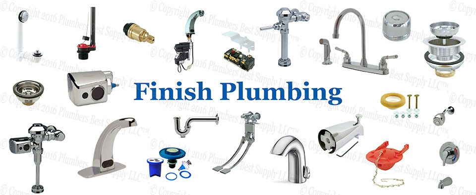 Finish Plumbing - Standard and Specialty faucets, Flush Valves