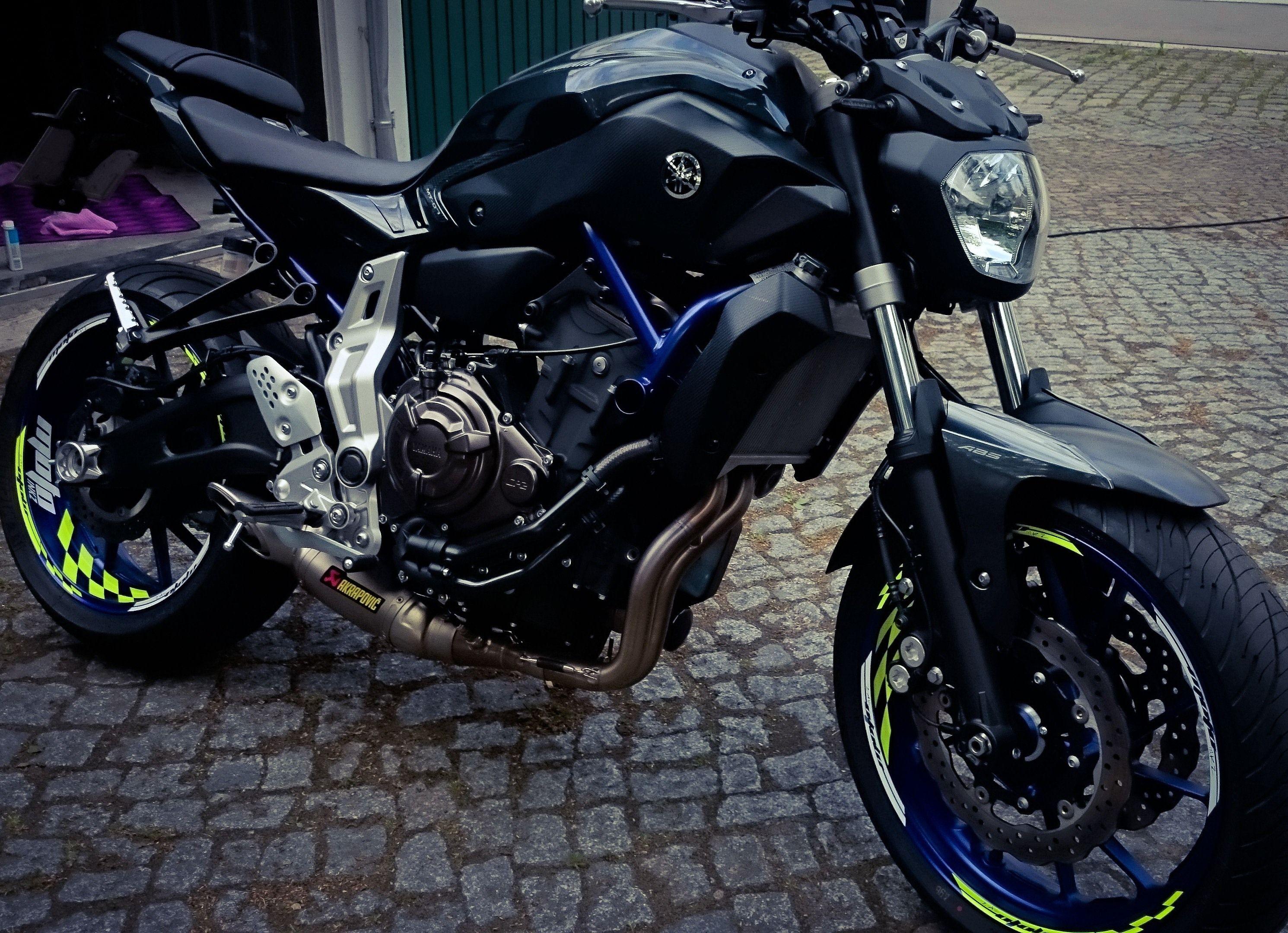 MT 07 Mt07 Fz07 Yamaha Dekor Race Blue
