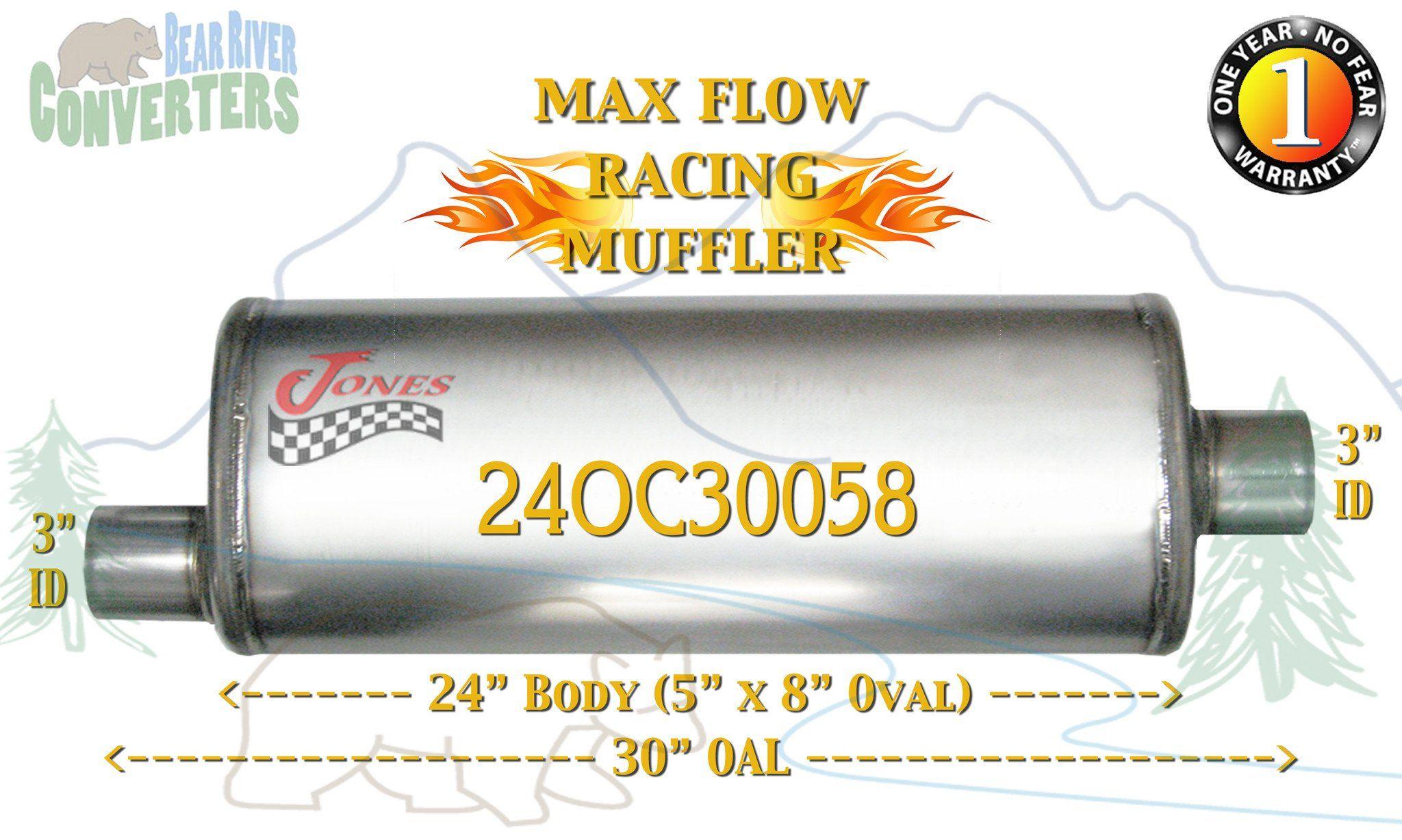 24OC30058 Jones MF2289 Max Flow Racing Muffler