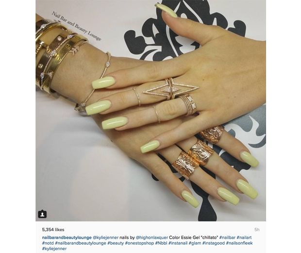 Where To Get Kylie Jenner S Yellow Nail Polish Long Square