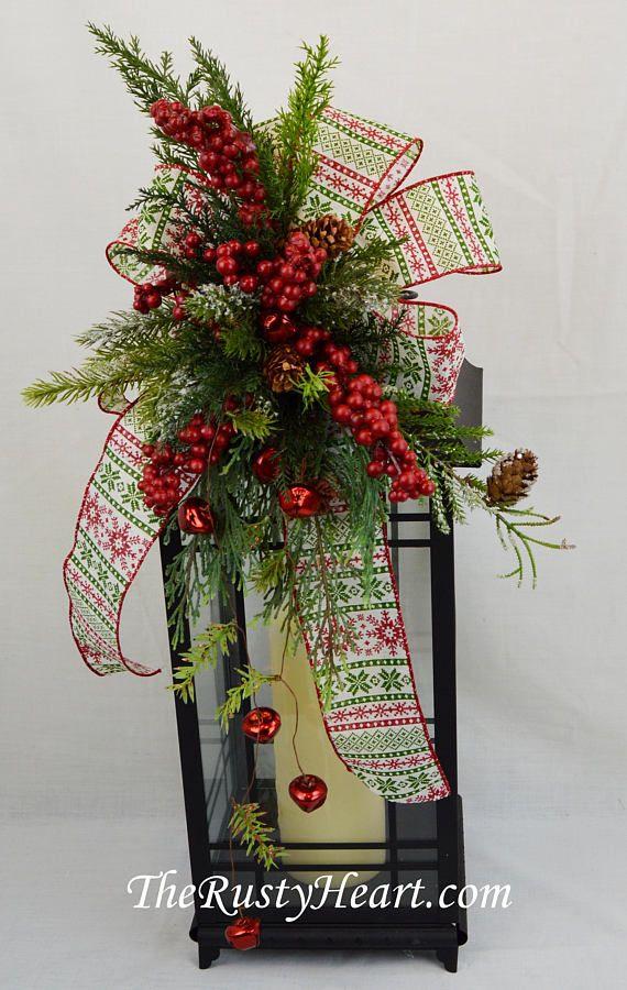 Noël lanterne Swag swag Noël swag cheminée décoration de   Lantern on