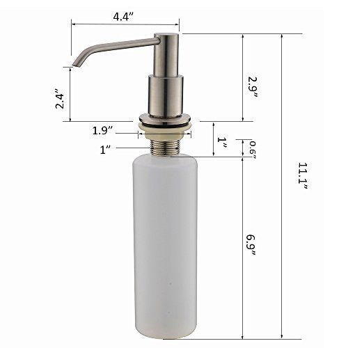 Commercial Brushed Nickel Counter Top Soap Dispenser For Kitchen Sink  Durable