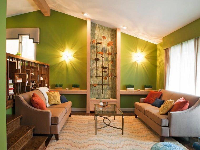 Wohnzimmerwand Grün ~ Wohnzimmer grun turkis die besten blau grün ideen auf