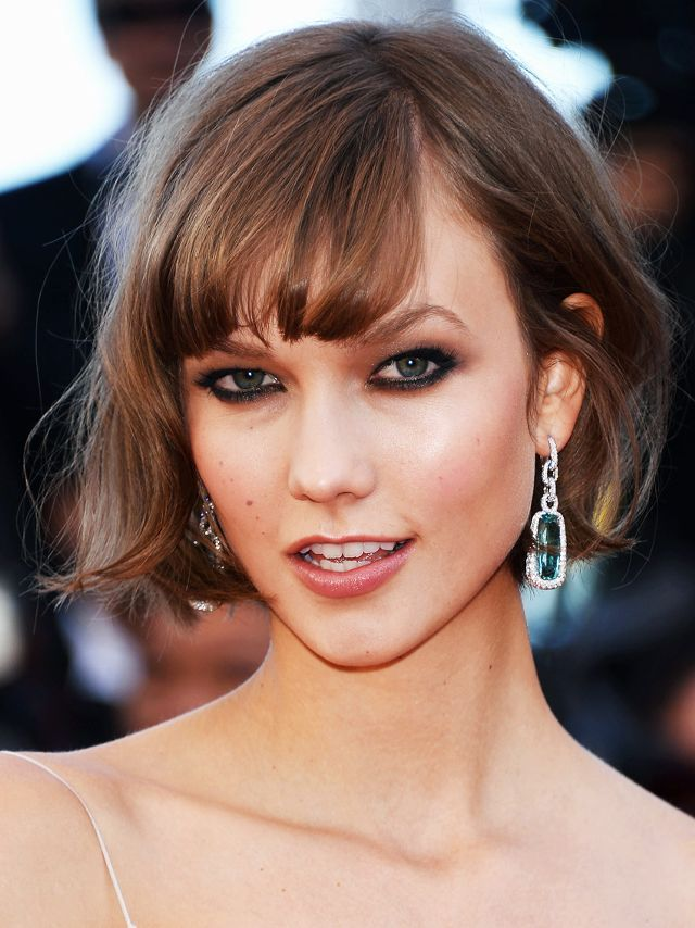 Bob Hairstyles Karlie Kloss With A Short Bob And Fringe Beauty