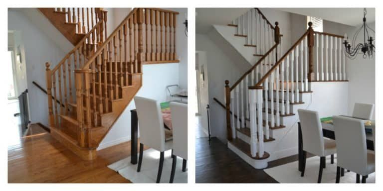 Best How To Refinish And Modernize Your Oak Stairs Oak Stairs 640 x 480