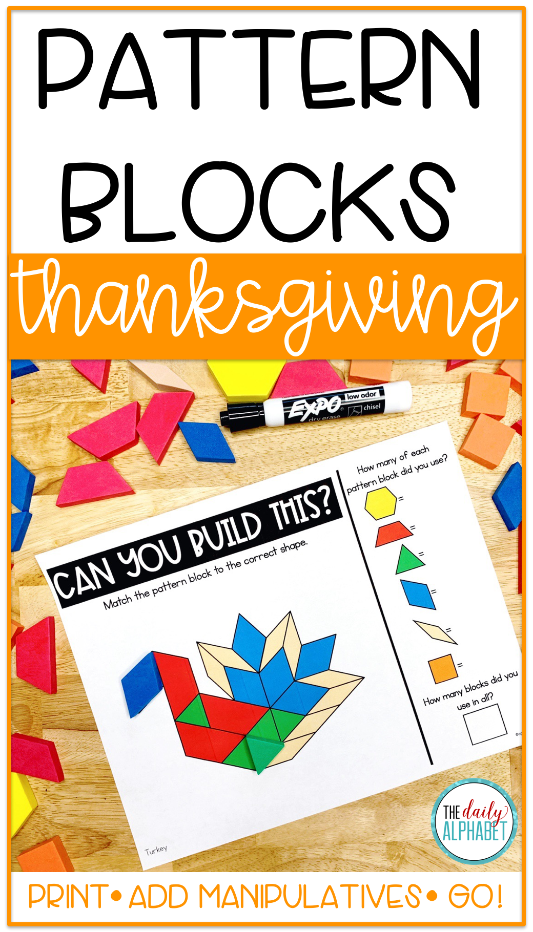 Pattern Block Mats Thanksgiving