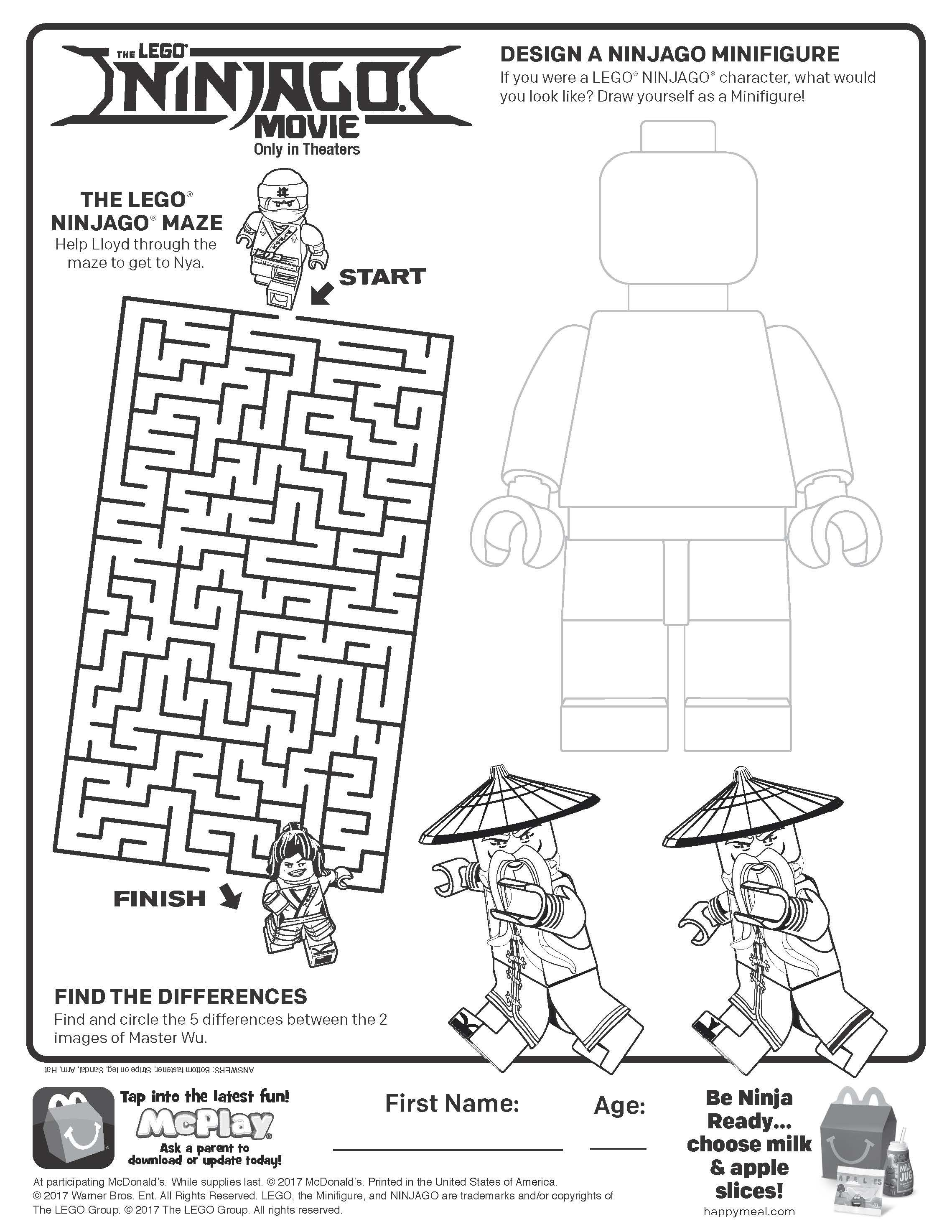 Ninjago Lego Design Kids Activity Books