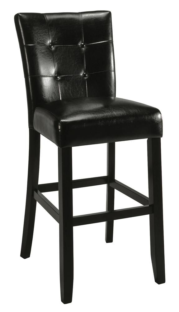 Beau Counter Height Parsons Chair In Black Faux Leather   Set Of 2