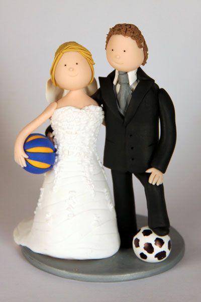 Fussball Basketball Brautpaar Fur Die Hochzeitstorte