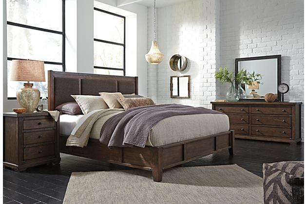 Medium Brown Zenfield Queen Panel Bed View 6 HOME ON THE