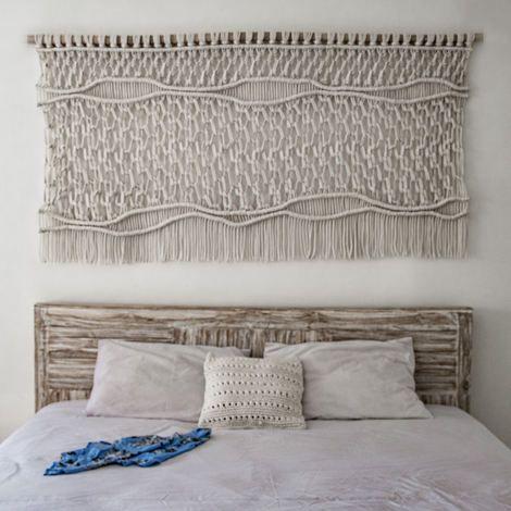 Wallart contempor neo macrame wallahnging tapiz for Decoracion del hogar contemporaneo