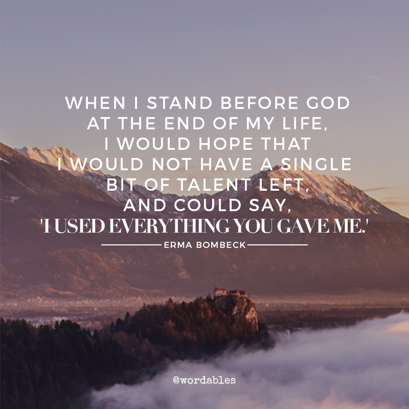 When I stand before God at the end of my life, I would