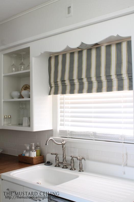 Get Inspired: 15 DIY Window Treatments. Kitchen Window CoveringsWindow  CornicesFabric Roman ShadesDiy ...