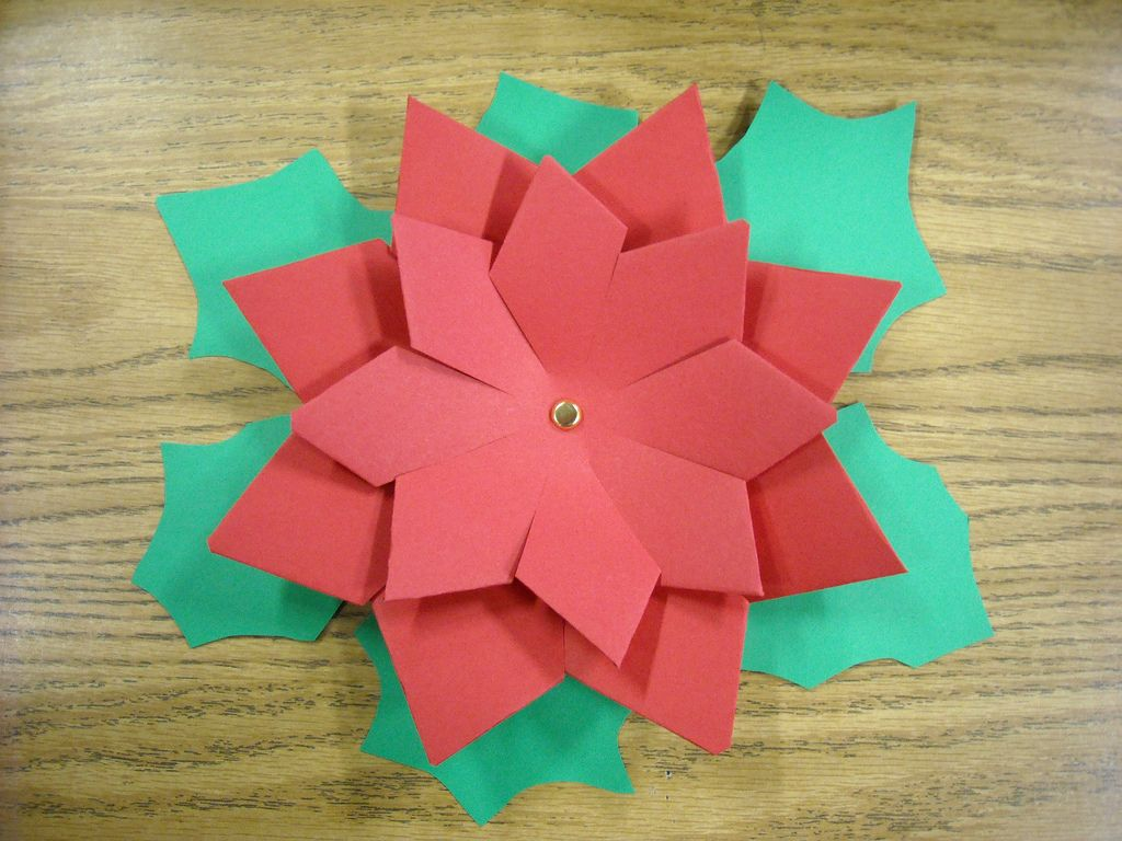 Paper Poinsettia Flickr