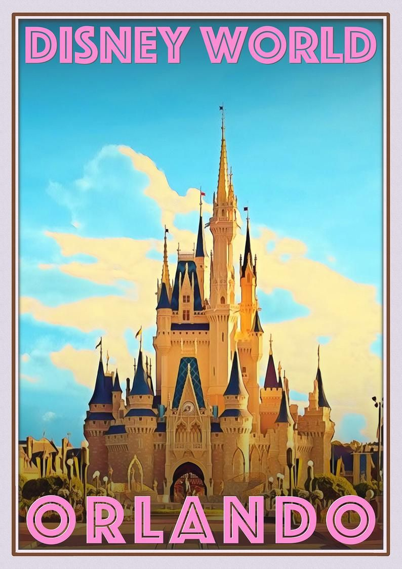 Walt Disney World Vintage Posters