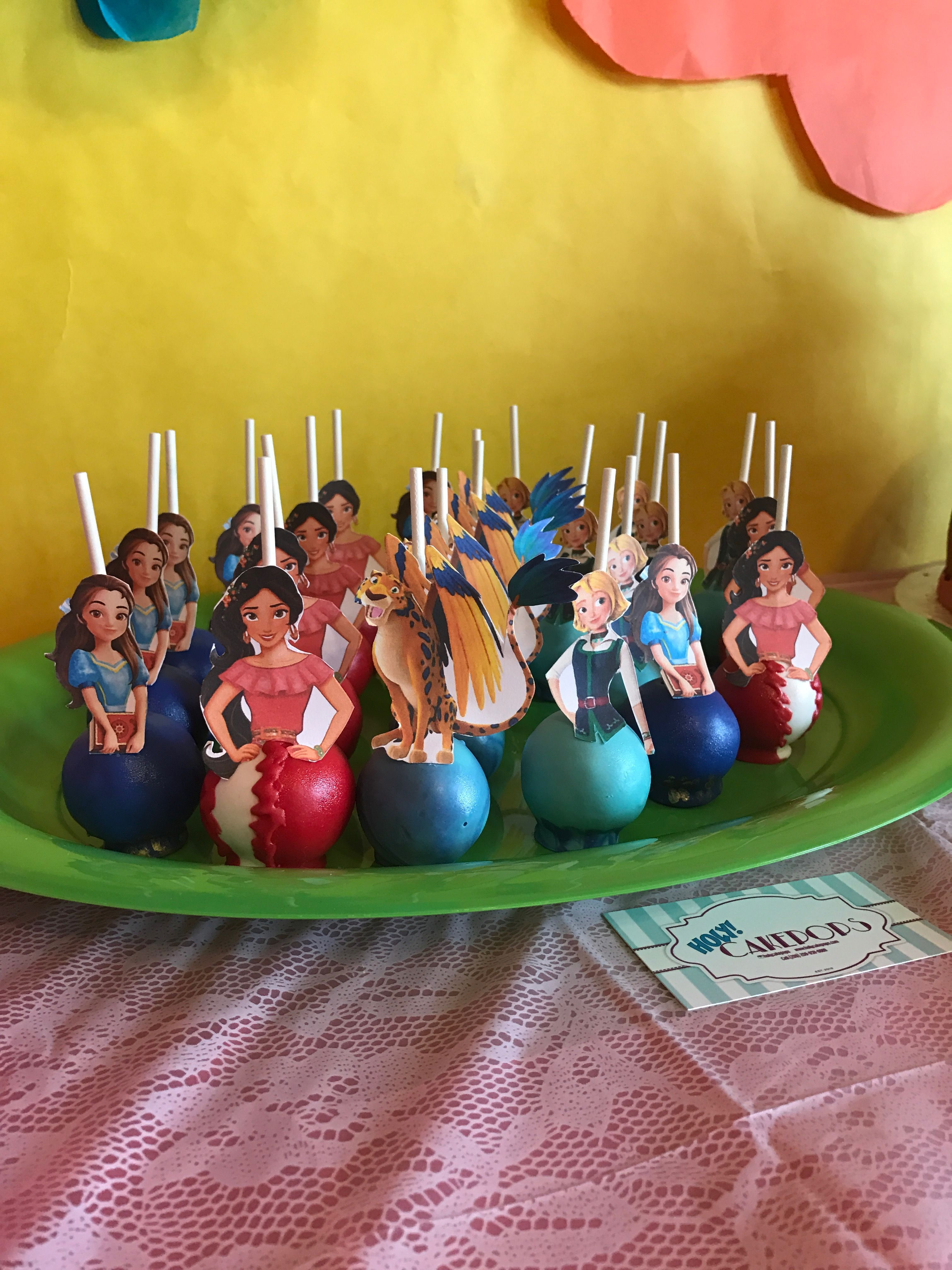 Elena Of Avalor Cake Pops