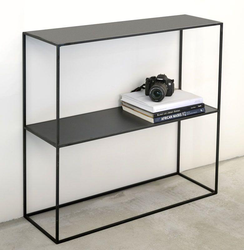 console m tal acier brut de style industriel sur mesure objects. Black Bedroom Furniture Sets. Home Design Ideas