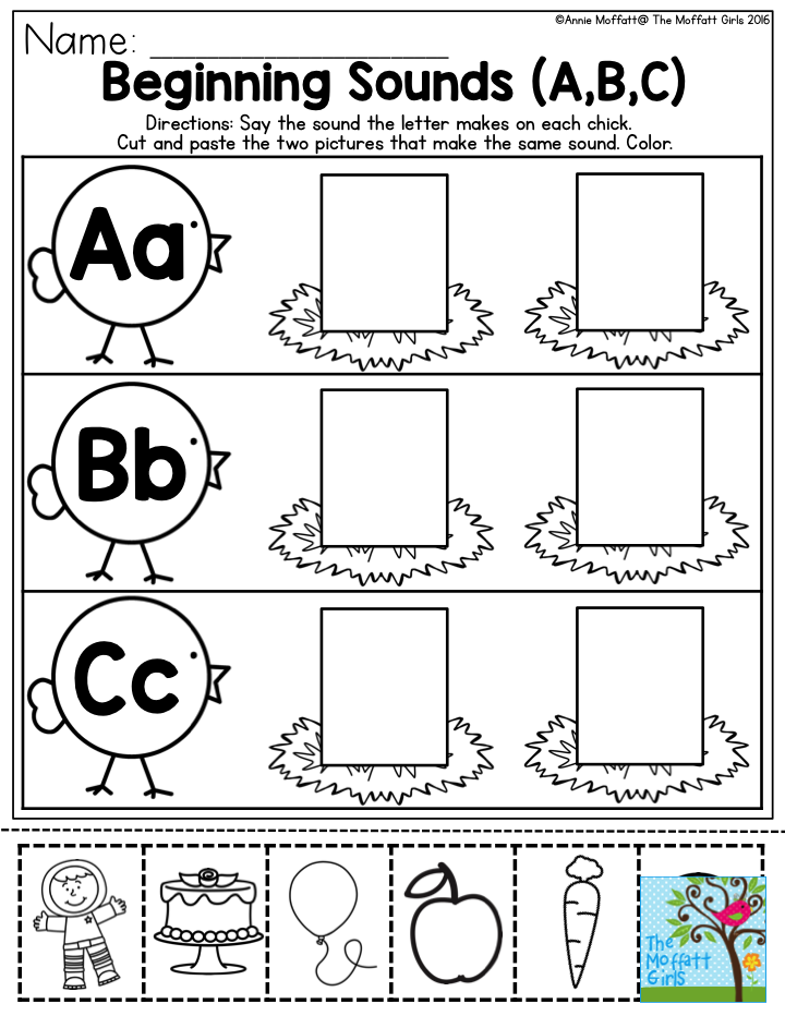 Beginning Sounds- Help preschool students master their