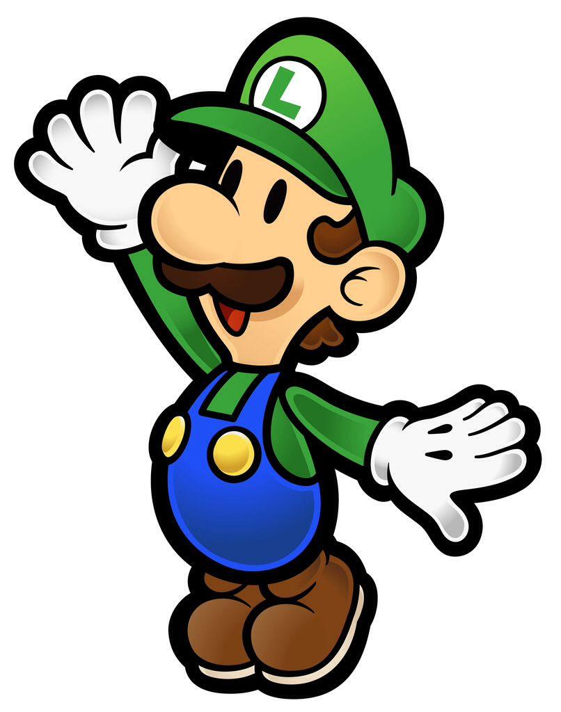 Paper Luigi   Videogames   Pinterest   Luigi and Rock painting