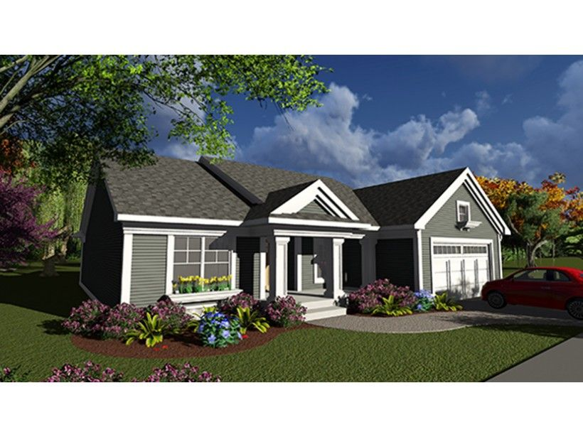 1 Story 1540 Square Foot Ready To Build House Plan From Builderhouseplans