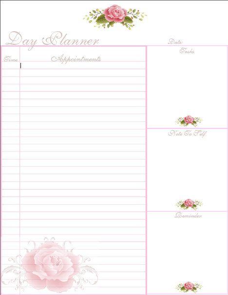 Day Planner / Day Calendar / Editable Day Planner / Printable