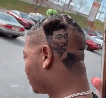 Rapper Yung Joc Gets Portrait Of Tupac Shakur Shaved Into His Hair Essential Oils For Hair Beauty Hair Color Pastel